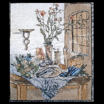 Mosaïque Barbara Utz: Nature  morte