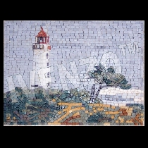 Mosaïque Phare Hiddensee Dornbusch